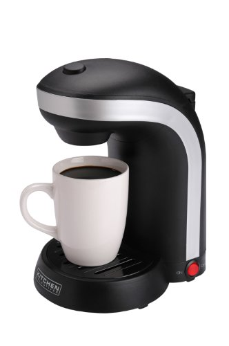 Kitchen Selectives CM-688 1-Cup Single Serve Drip Coffee Maker, Black