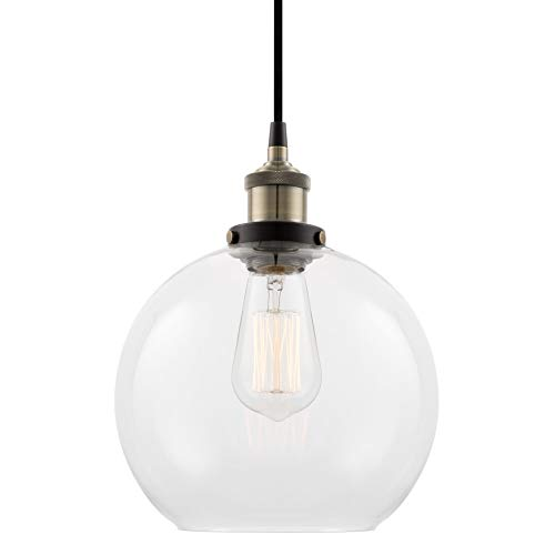 Glass Globe Pendant Light Shade in US - 1
