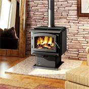 Napoleon Epa Wood - Napoleon 2300 Timberwolf Economizer EPA Large Wood Burning Stove with Black Door