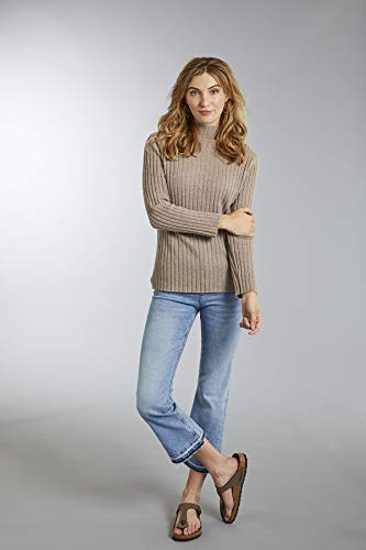 Invisible Pardo Pullover Women's Gris Ribbed World XrZXO