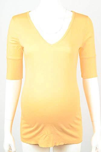 - Michael Stars Maternity Pineapple Yellow OSFA Deep Vneck tee Shirt top