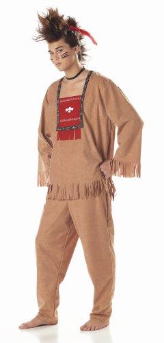 Adult Bull Running (Adult Running Bull Indian Costume, Mens Small)