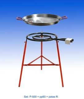 Kit completo para Paella diámetro 60 cm (el paquete incluye hornillo + Soporte + sartén): Amazon.es: Hogar