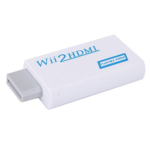 Wii to HDMI Converter , NCElec High Compatibility and Stability Output Video Audio Adapter, Supports All Wii Display Modes to 720P / 1080P HDTV & Monitor