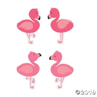 Fun Express Flamingo Bb Cutouts - 48 Pieces - Educational and Learning Activities for Kids: Toys & Games