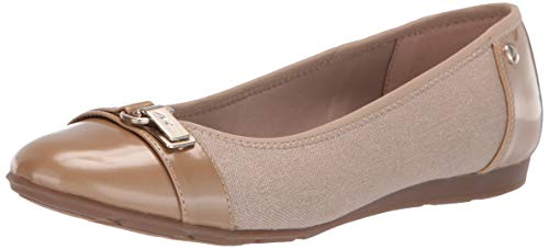 Anne Klein Women's Able Ballet Flat Shoe, Natural Multi, 7 W US