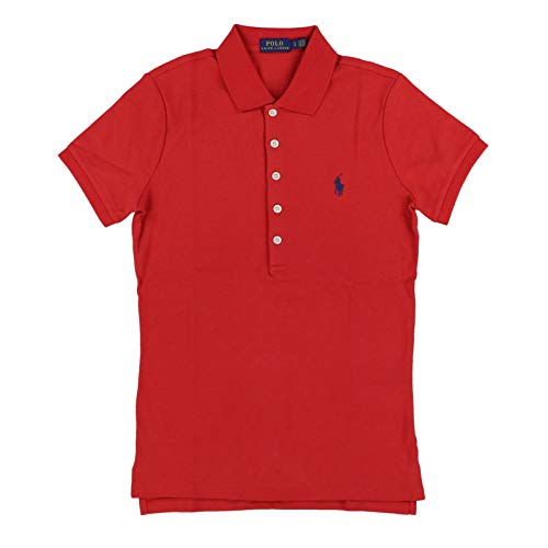 Polo Ralph Lauren Womens Interlock Polo Shirt (Large, Soft Red)