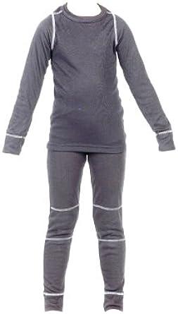 Heatwave Kinder-Thermo-Unterw/äsche Oberteil mit langen /Ärmeln und lange Unterhose