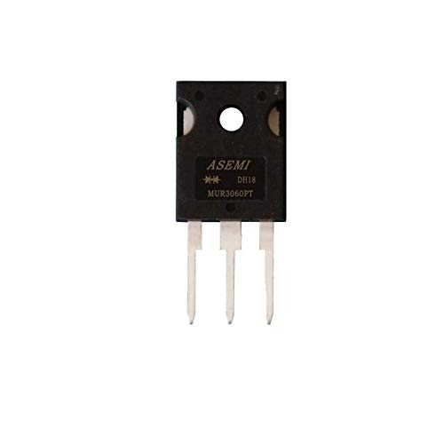 MUR3060PT with Heat Sink ASEMI TO-247//3P Package 3 Pins Fast Recovery Rectifier Diode for Transformer Pack of 5pcs