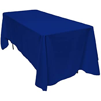 Elegant LinenTablecloth 70 X 120 Inch Rectangular Polyester Tablecloth Royal Blue