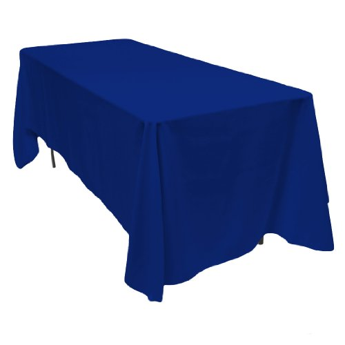 LinenTablecloth 70 x 120-Inch Rectangular Polyester Tablecloth Royal Blue (Table Clothes Blue)