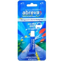 Abreva Cold Sore/Fever Blister Treatment, On the Go - .07 oz, Pack of 5 by Abreva