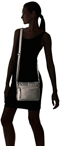of Crossbody Bueno Pewter Washed Textured Faux Leather California Bueno w4qdUw