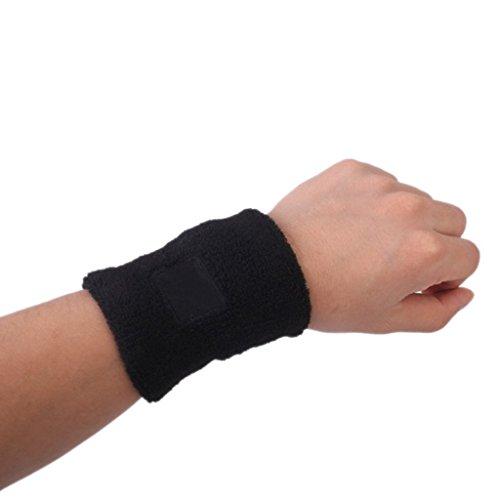 TOOGOO(R) 2 x Bracelet de Sport Noir