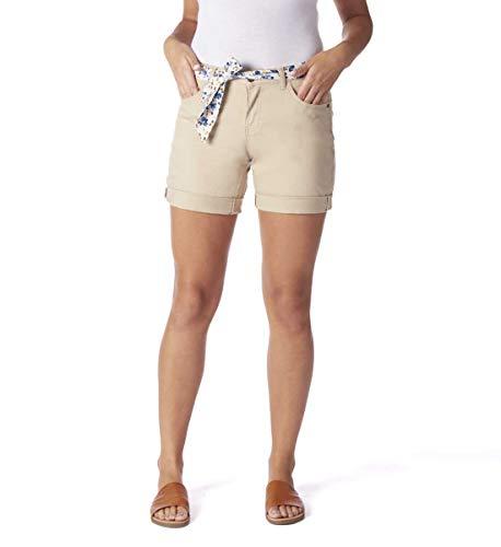 Jag Jeans Women's Carter Girlfriend Belted Short, Khaki, 0