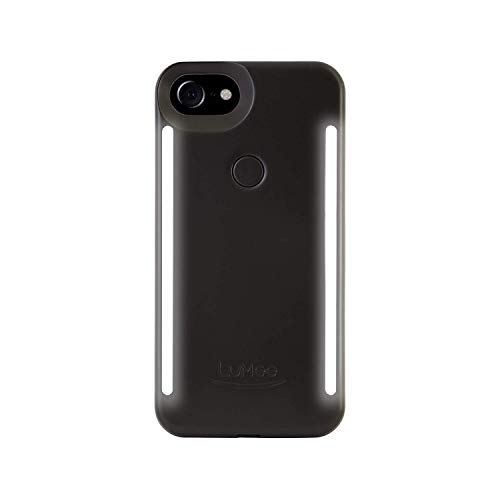 LuMee Duo Phone Case, Black Matte | Front & Back LED Lighting, Variable Dimmer | Shock Absorption, Bumper Case, Selfie Phone Case | iPhone 8 / iPhone 7 / iPhone 6s / iPhone 6 (Light Up Phone Case Iphone 7 Plus)