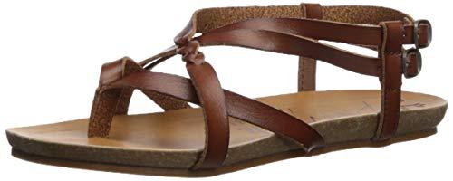 Blowfish Women's Gineh Flat Sandal, Scotch Dyecut, 8 Medium US