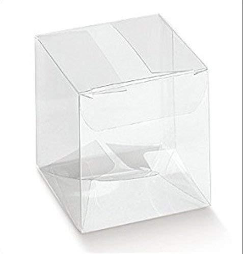 50 PCS Bo/îte pvc transparent 10X10X10 cm sachets /à drag/ées pour BONBONNI/ÈRE