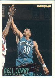 1994 Fleer Basketball Card (1994-95) #22 Dell Curry Near Mint/Mint