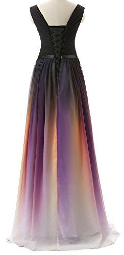 Eudolah Vestido de noche de mujer de colores sin tirantes Rot V 38