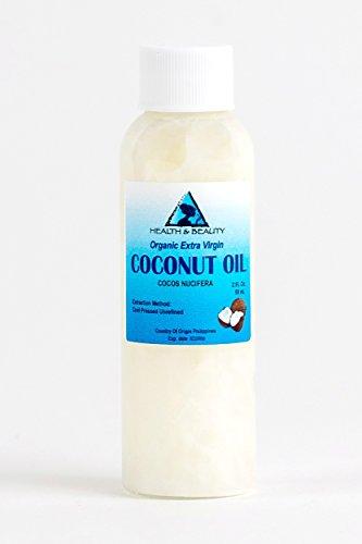 Coconut Oil Extra Virgin Organic Unrefined Cold Pressed Raw Pure 2 oz