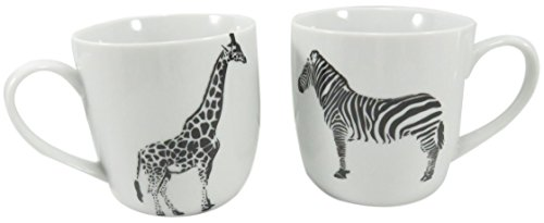 Safari Giraffe Zebra Coffee Tea Mug Cup 11 fl oz Porcelain W