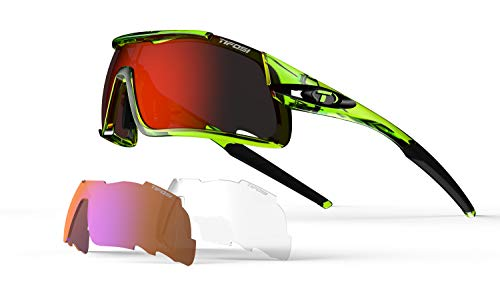 - Tifosi Davos Sunglasses Crystal Neon Green Clarion Red/AC Red/Clear