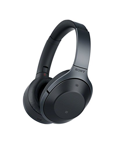 Sony MDR-1000X/B Black Hi-Res Bluetooth Wireless Noise Cancelling Headphones (Renewed)
