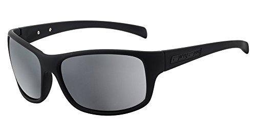 Dirty Dog Phin matt schwarz Herren Damen fahren Sonnenbrille/silber Spiegel Polarisiert Objektiv 53394* * RRP £ 44,99* *
