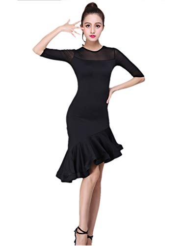 Latin Salsa Mambo Cha Cha Dancer Competition Dance Costumes Dress for Halloween -