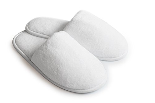 Price comparison product image Love White Slippers Luxury Hotel Slippers - Close Toe Spa Slippers - Slippers For Guests