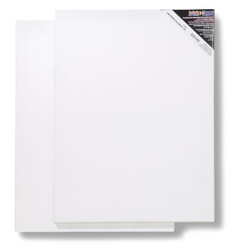 Darice 18-Inch-by-24-Inch Stretched Canvas, 2-Pack