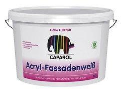 Caparol, Acryl-Fassadenweiß, Matte, hochdeckende, leicht füllende Fassadenfarbe, 2,5 l