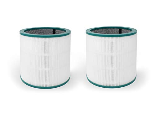 Fette Filter Air Purifier HEPA Filter Compatible with Dyson Tower Purifier Pure Cool Link TP02, TP03 Model - Compare to Part # 968126-03 (Pack of 2)
