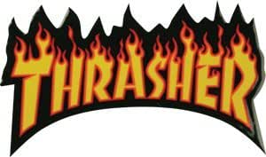 3edeec76cb15 Amazon.com  Thrasher Flame Logo Sm Decal Single Assorted Colors  Sports    Outdoors