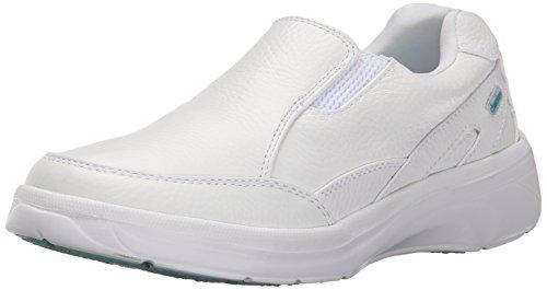 White Leather Nursing Shoes (Cherokee Women's Mambo Work Shoe, White, 8.5 M US)