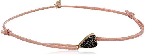 Fossil Heart Bracelet - Fossil Women's Heart Dusty Pink Nylon Bangle Bracelet