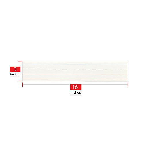 Fifty (50) Pack Dry Erase Sentence Strips – By Essex Wares – Just Write and Then Wipe Away – Reuse Multiple Times – Perfect for Classroom Use With Your Pocket Charts by Essex Wares (Image #2)