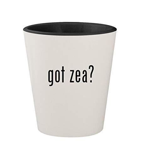 Zea Mays Blush - got zea? - Ceramic White Outer & Black Inner 1.5oz Shot Glass