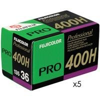 Fujifilm Fujicolor Pro 400H Color Negative Film ISO 400, 35mm, 5 Rolls of 36 Exposures