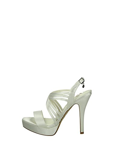 O6 0407 Sandals Heels and Plateau Woman White