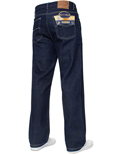 Pantalon Indigo Tout Grand Taille Travail Jeans Neuf Lourd Tailles Hommes Jambe Basique Jean Droite Pour vxAz6wqU
