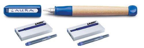 Lamy Schreiblernfüller A blau, abc incl. 2 Päckchen Ersatz Tinten Patronen in blau