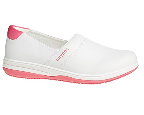 Oxypas Suzy, Nursing Slip-On Shoe, Coolmax® Lining, Anit Slip Sole, Antistatic, Removable Insole, Suitable for Healthcare professionals Fushia
