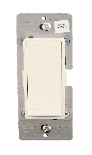 Coordinating Remote Dimmer - Leviton VP0SR-10Z, Vizia + Digital Coordinating Remote Switch, 3-Way or more applications, White/Ivory/Light Almond