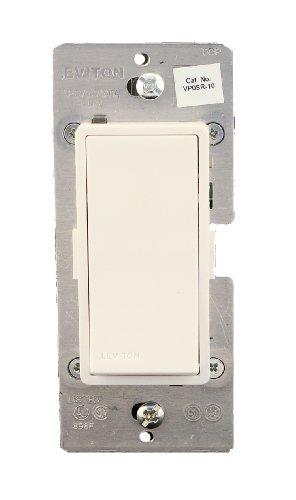 Dimmer Vizia Coordinating - Leviton VP0SR-10Z, Vizia + Digital Coordinating Remote Switch, 3-Way or more applications, White/Ivory/Light Almond