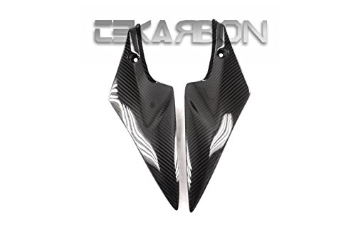 Tekarbon, Carbon Fiber Side Tank Panels, for Suzuki GSXR 600/750 (2006-2007), 2x2 Twill Weave ()