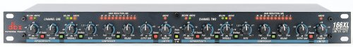 DBX 166XL 2 Channel Compressor Limiter with Noise (Dual Channel Compressor Limiter)