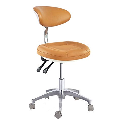SoHome Portable Dentist Chair Doctor's Stool Concaved-Design Mobile Chair Height Adjustment Micro Fiber Leather by SoHome (Image #5)