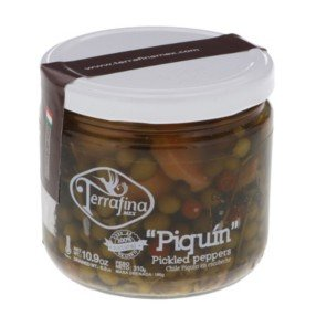 Terrafina Chile Piquin Pickled Peppers 10.9 oz (Pack of 4)